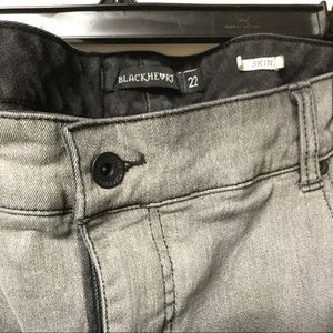 Black heart Black Skinny Plus Size Jeans